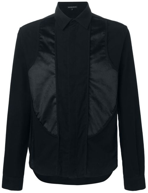 Ann Demeulemeester | Мужская Черный Рубашка С Панельным Дизайном