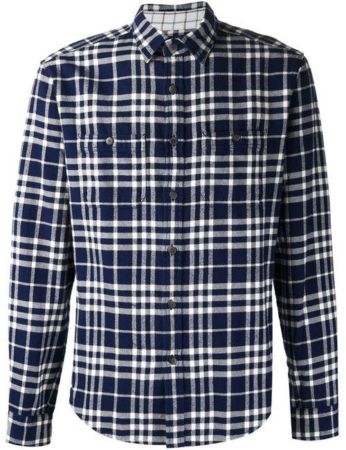 ALEX MILL | Мужское Синий Indian Flannel Plaid Shirt