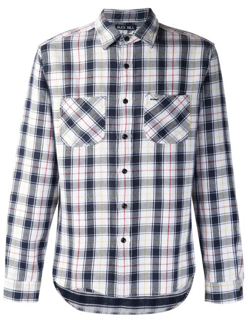 ALEX MILL | Мужское Белый Plaid Flannel Shirt