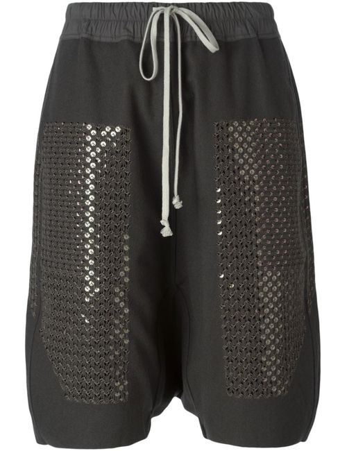 Rick Owens | Женское Серый Sequinned Drop Crotch Shorts