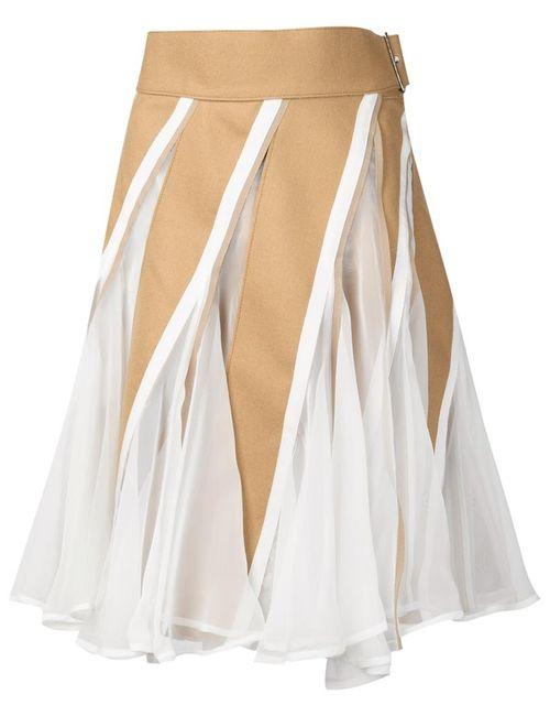 Sacai | Женское Белый Panelled Skater Dress