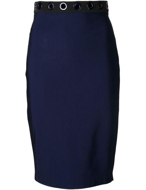 Mugler | Женское Синий Eyelet Pencil Skirt