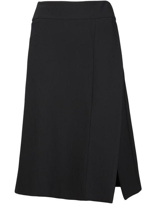 Narciso Rodriguez | Женское Чёрный Side Slit Wrap A-Line Skirt