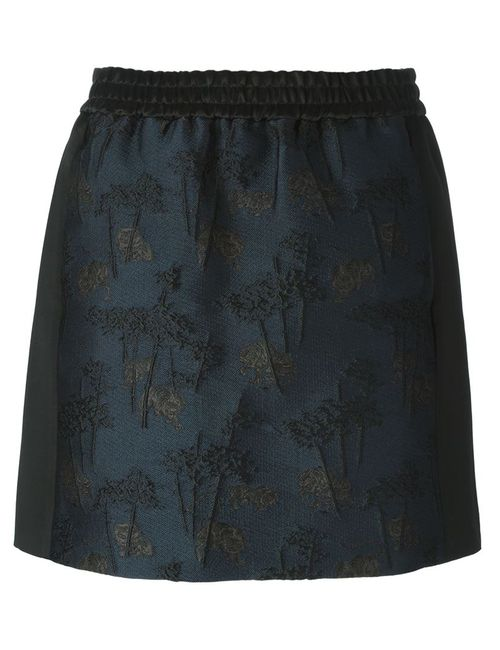 Kenzo | Женское Синий Bamboo Tiger Mini Skirt