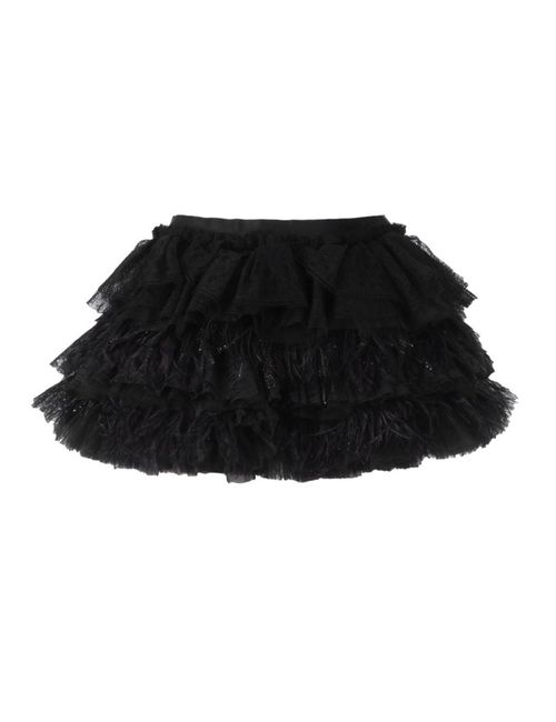 Faith Connexion | Женское Чёрный Ruffled Feather Short Skirt