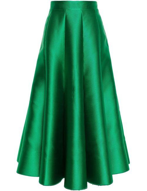 Natasha Zinko | Женское Зелёный Satin Midi Skirt