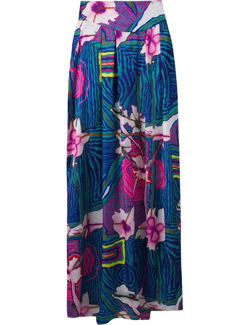 AMIR SLAMA | Женское Синий Printed Long Skirt