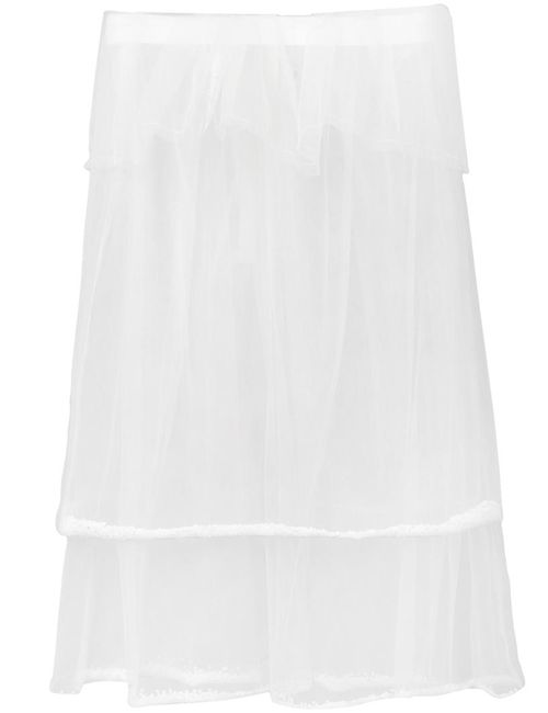 PHOEBE ENGLISH | Женское Белый Double Layered Sheer Skirt