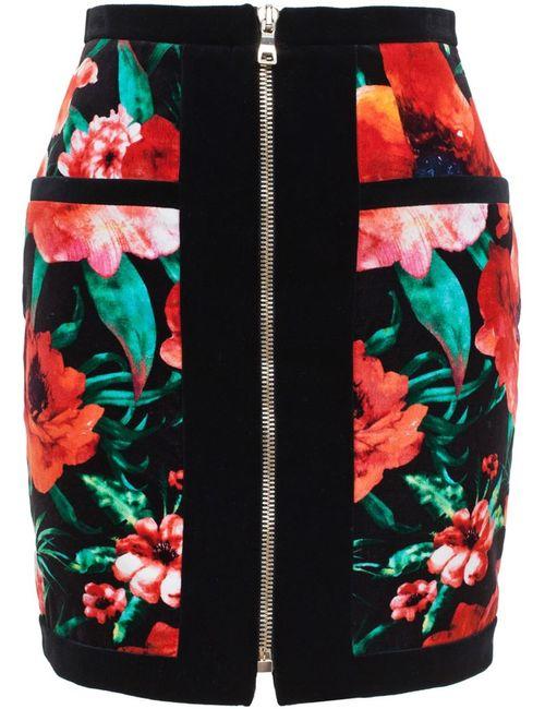 Balmain | Женское Красный Zip Skirt