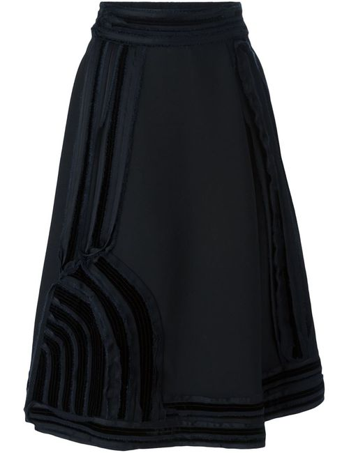 Lanvin | Женское Черный Satin Detail A-Line Skirt