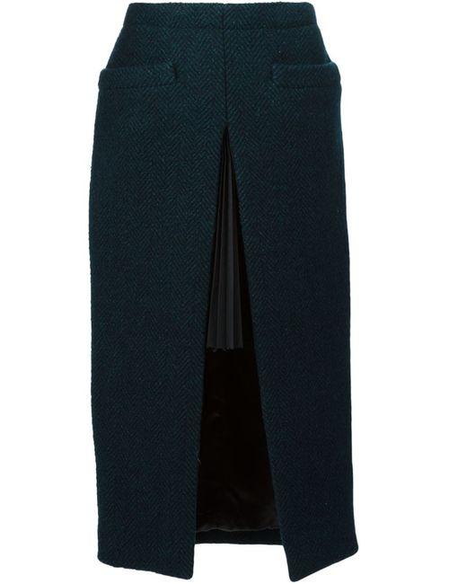 Sacai | Женское Зелёный Herringbone Skirt