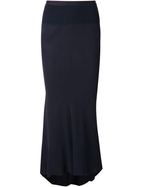 Rick Owens | Женское Синий High Low Pleated Skirt