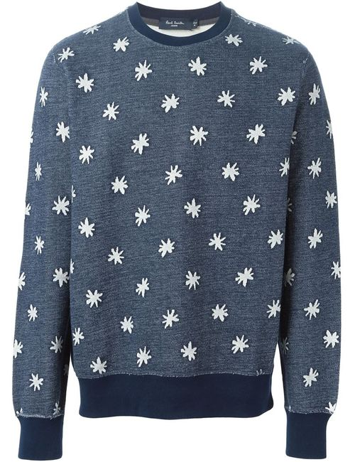 Paul Smith Jeans | Мужская Синяя Толстовка С Принтом Звезд