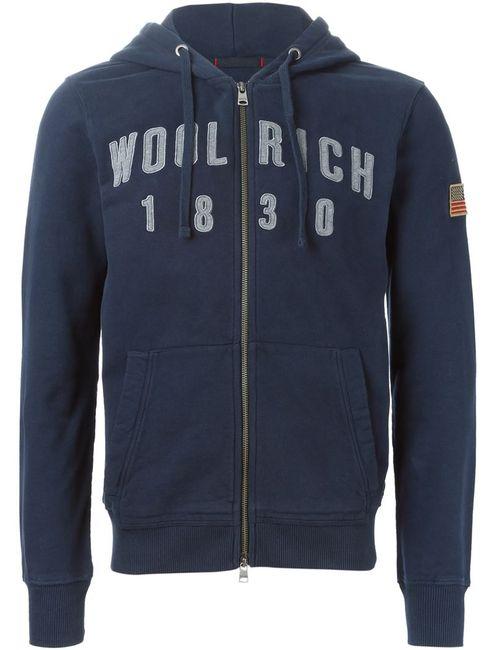 Woolrich   Мужская Синяя Толстовка С Вышивкой Логотипа