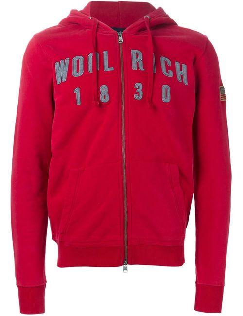Woolrich | Мужская Красная Толстовка На Молнии С Вышивкой Логотипа