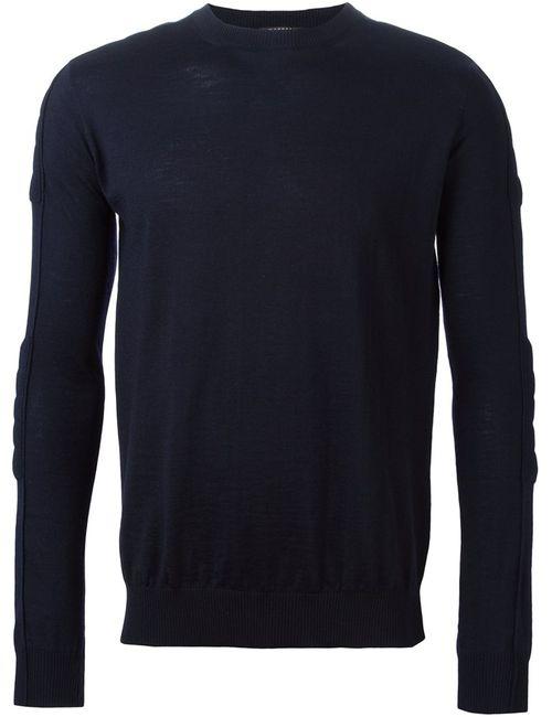 Balmain | Мужское Синий Crew Neck Sweater