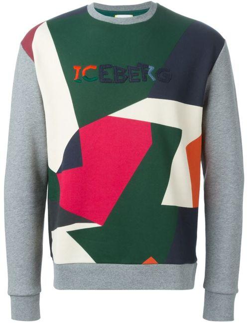 ICEBERG | Мужское Серый Collage Print Sweatshirt