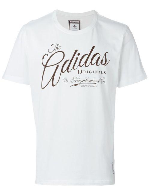 adidas Originals | Мужская Белая Футболка Adidas By Neighborhood Co.