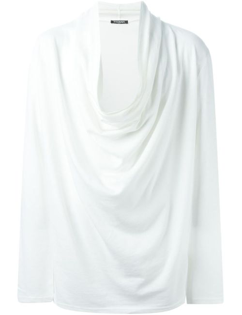 Balmain | Мужское Cowl Neck T-Shirt