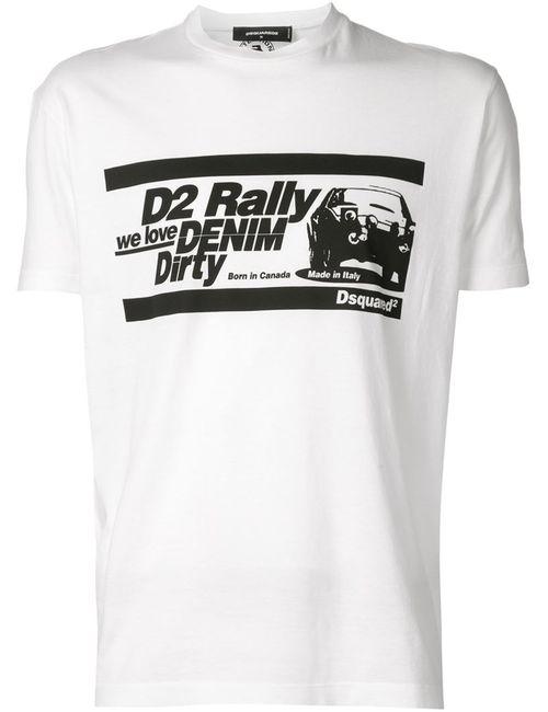 Dsquared2 | Мужское Белый Printed T-Shirt