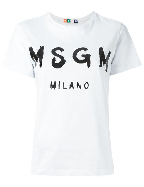 MSGM | Женская Футболка С Принтом Логотипа