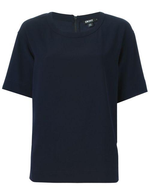DKNY | Женская Синяя Футболка С Круглым Вырезом
