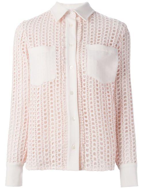 See By Chloe | Женская Розовая Кружевная Рубашка