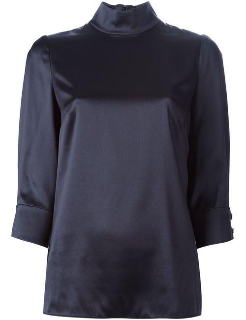 Dolce & Gabbana | Женская Черный Блузка С Воротником-Стойкой