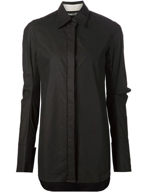 Vera Wang | Женское Чёрный Draped Sleeve Shirt