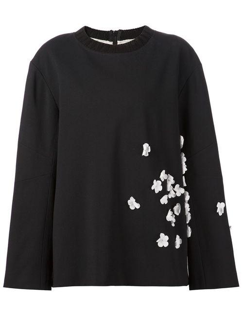 Vera Wang | Женское Черный Oversize Sweatshirt