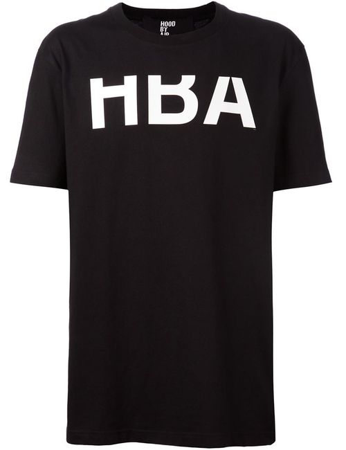 HOOD BY AIR | Женская Черный Футболка С Принтом Логотипа