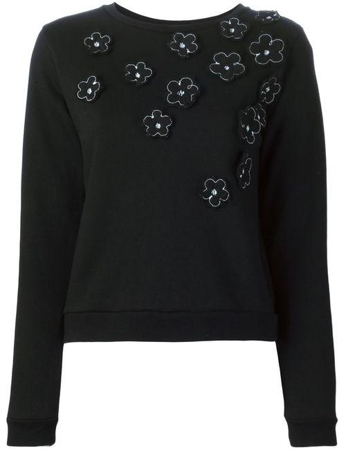 JIMI ROOS | Женское Чёрный Flower Appliqué Sweatshirt