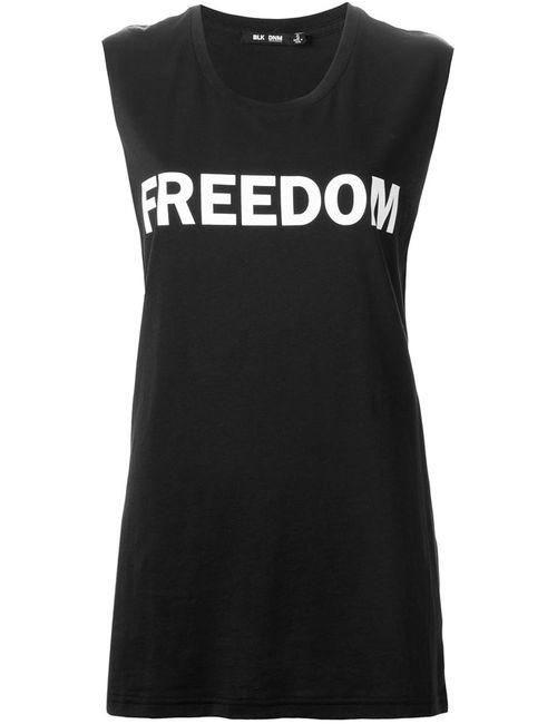 Blk Dnm | Женское Чёрный Freedom Print Tank Top