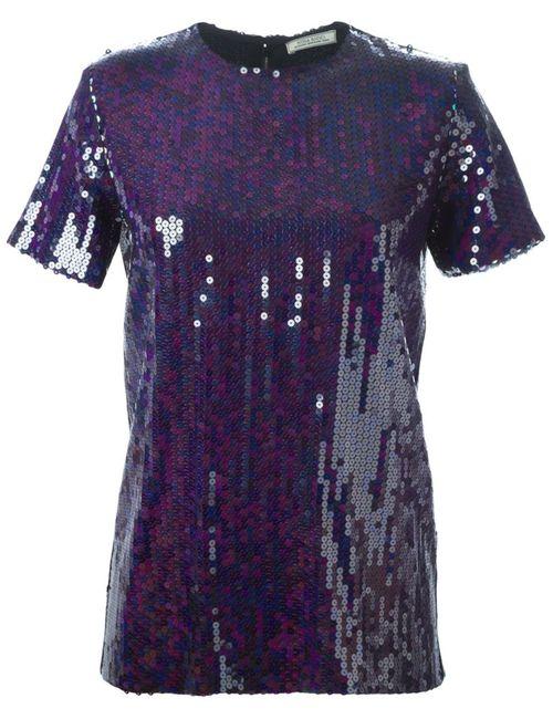 Nina Ricci   Женское Синий Sequinned T-Shirt