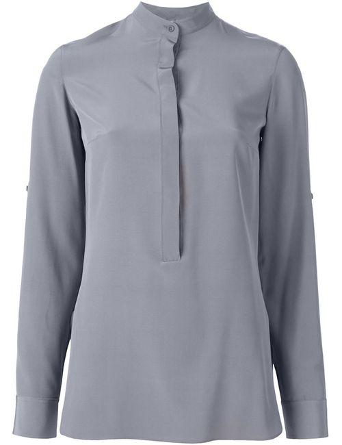 Akris | Женская Серая Рубашка С Воротником-Стойкой