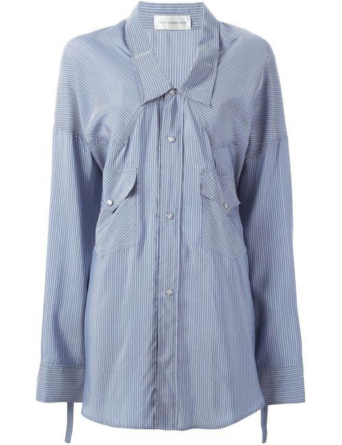 Faith Connexion | Женское Синий Striped Loose Fit Shirt