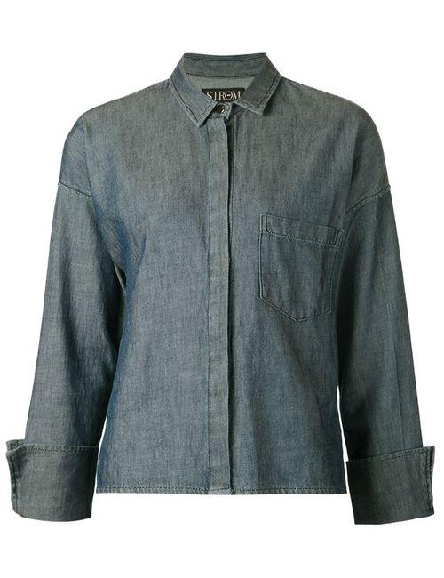 STR M | Женская Синяя Укороченная Рубашка Jax