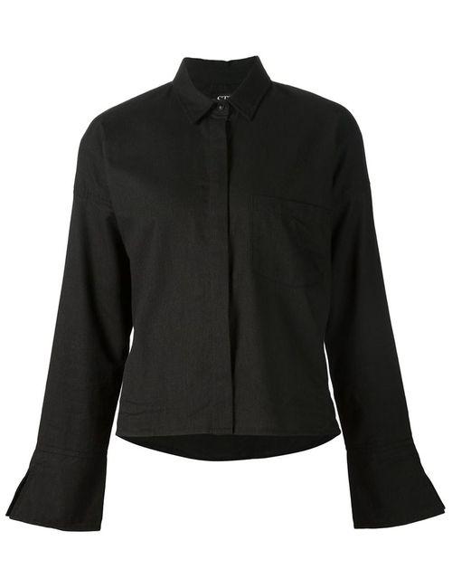 STR M | Женская Черный Укороченная Рубашка Jax