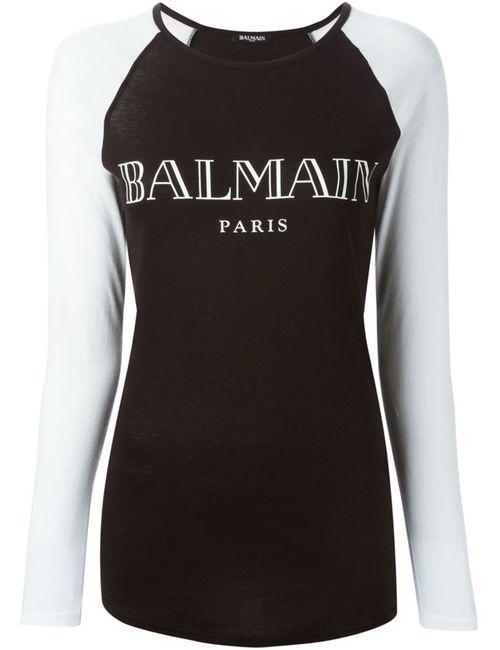 Balmain | Женское Чёрный Logo Print T-Shirt