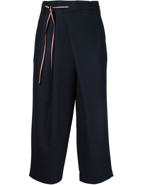 IKIJI | Мужское Синий Wide Leg Cropped Trousers