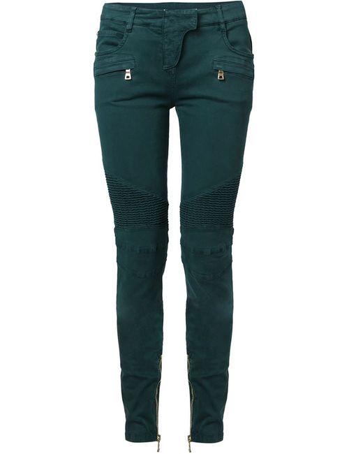 Balmain | Женское Зелёный Biker Trousers