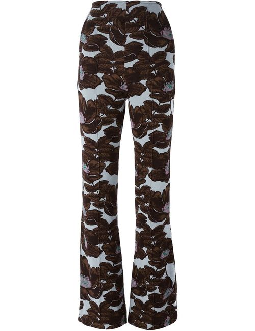 Marni | Синий Intarsia Flower Trousers