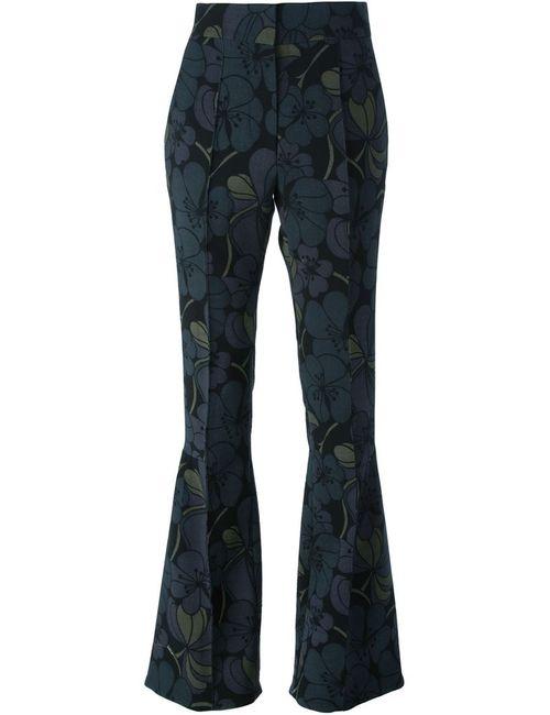 Marni | Женское Зелёный Flared Blossom Trousers