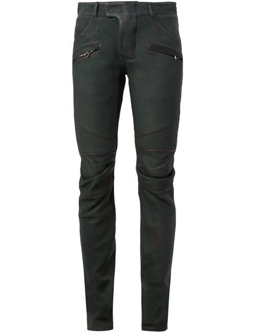 Balmain | Мужское Зелёный Biker Trousers