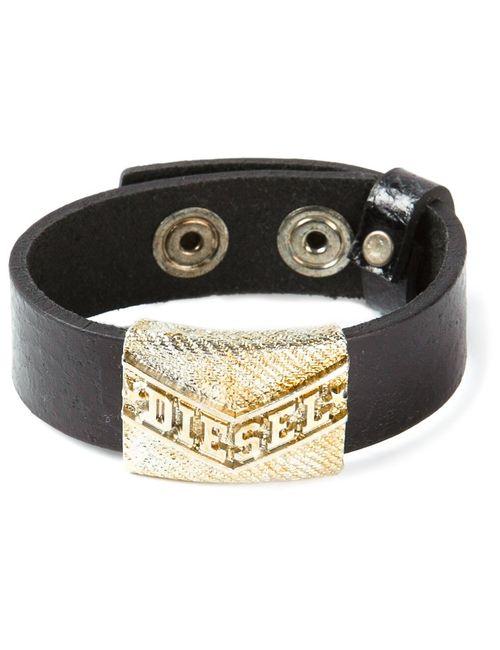 Diesel   Мужское Чёрный Logo Detail Bracelet