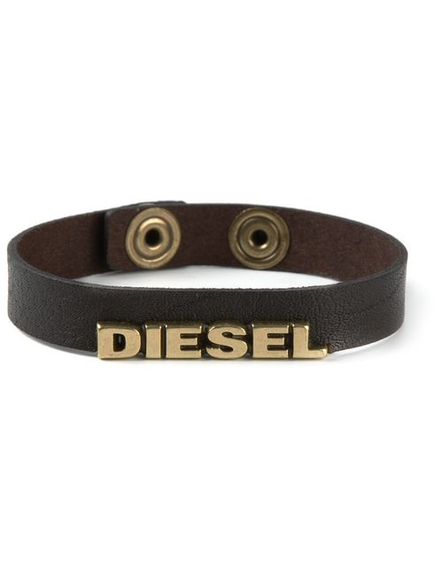 Diesel | Мужской Коричневый Браслет С Логотипом