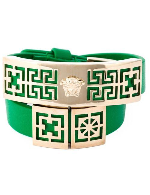 Versace | Женское Зелёный Greek Bracelet