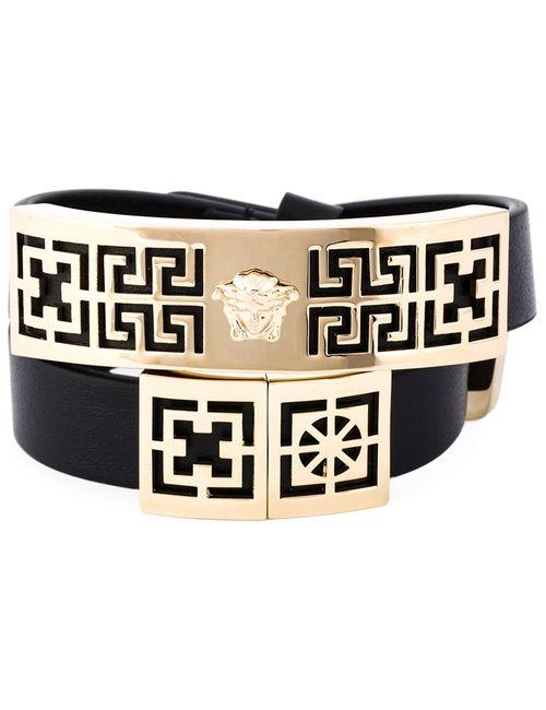 Versace   Женское Чёрный Greek Bracelet