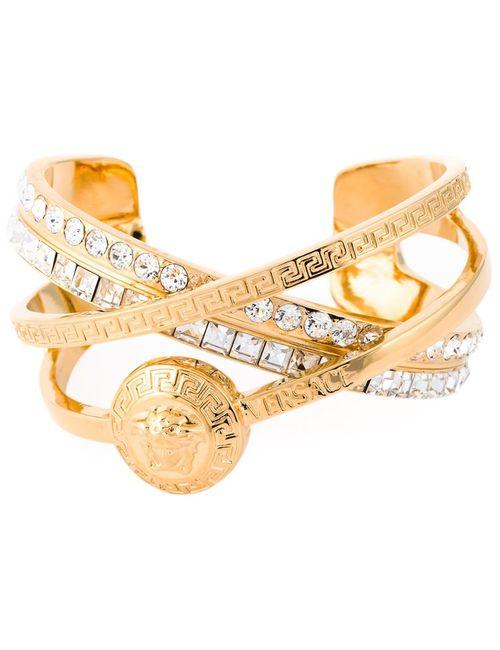Versace | Женское Серебристый Greek Embellished Bracelet