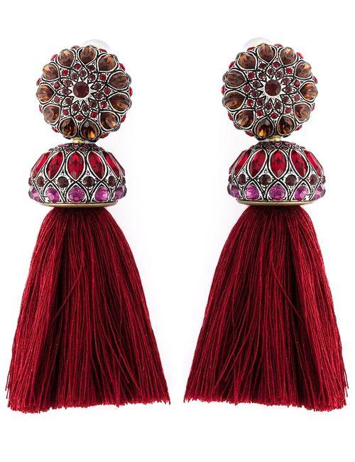Lanvin | Женское Красный Tassel Clip-On Earrings